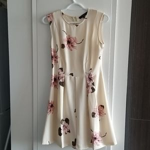 Dynamite floral fit and flare dress